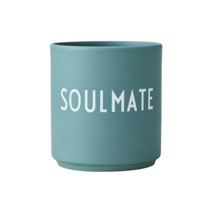 Der AJ Favourite Porzellan Becher von Design Letters, Soulmate / dusty green