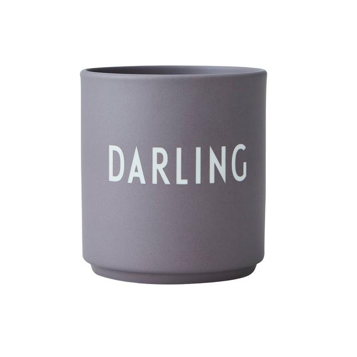 Der AJ Favourite Porzellan Becher von Design Letters, Darling / dusty purple