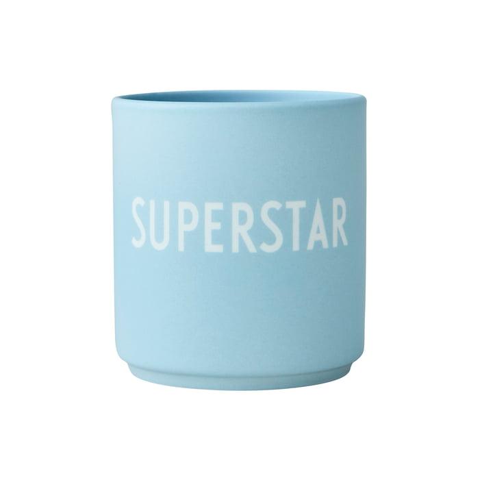 Der AJ Favourite Porzellan Becher von Design Letters, Superstar / soft blue