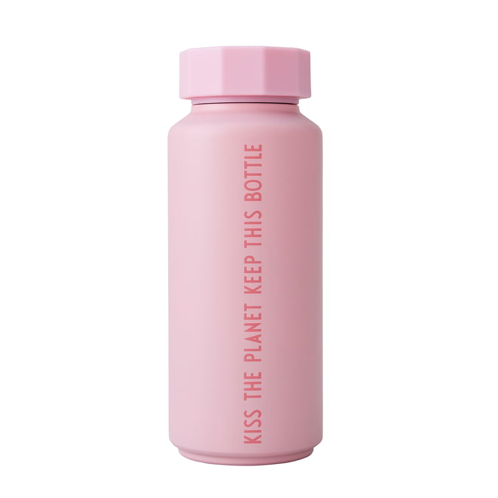 Die AJ Thermosflasche Hot & Cold von Design Letters, 0,5 l, To Go To Stay To Keep Forever / pink (Sonderedition)