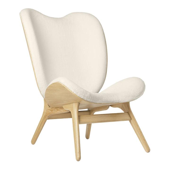 Der A Conversation Piece Tall Sessel von Umage, Eiche / Teddy weiß