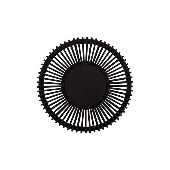 Der Clava Up Wood Leuchtenschirm von Umage, Eiche schwarz medium