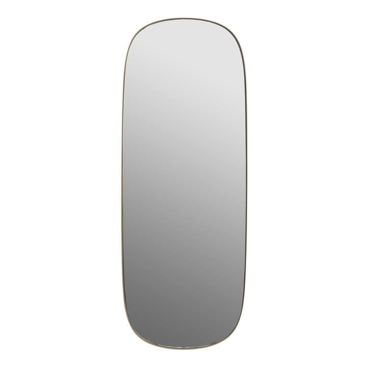 Der Framed Mirror, groß von Muuto, taupe / Klarglas