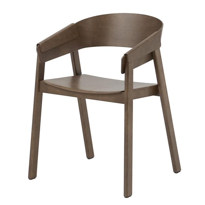 Der Cover Armchair von Muuto in dunkelbraun