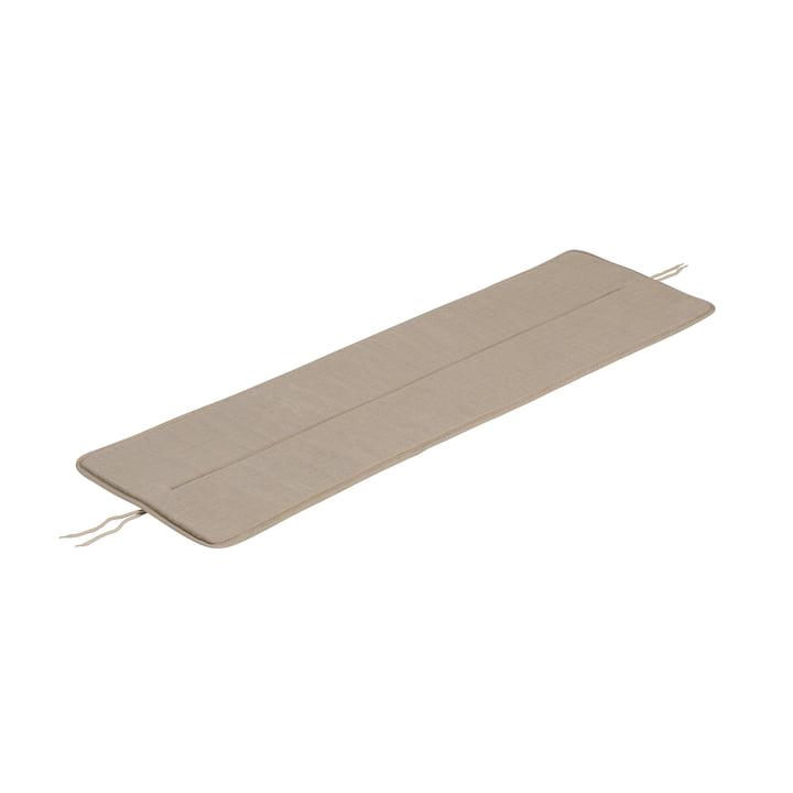 Das Sitzkissen für Linear Steel Bank von Muuto, L 110 cm, warm beige