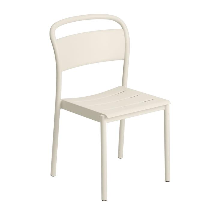 Der Linear Steel Side Chair von Muuto, off-white