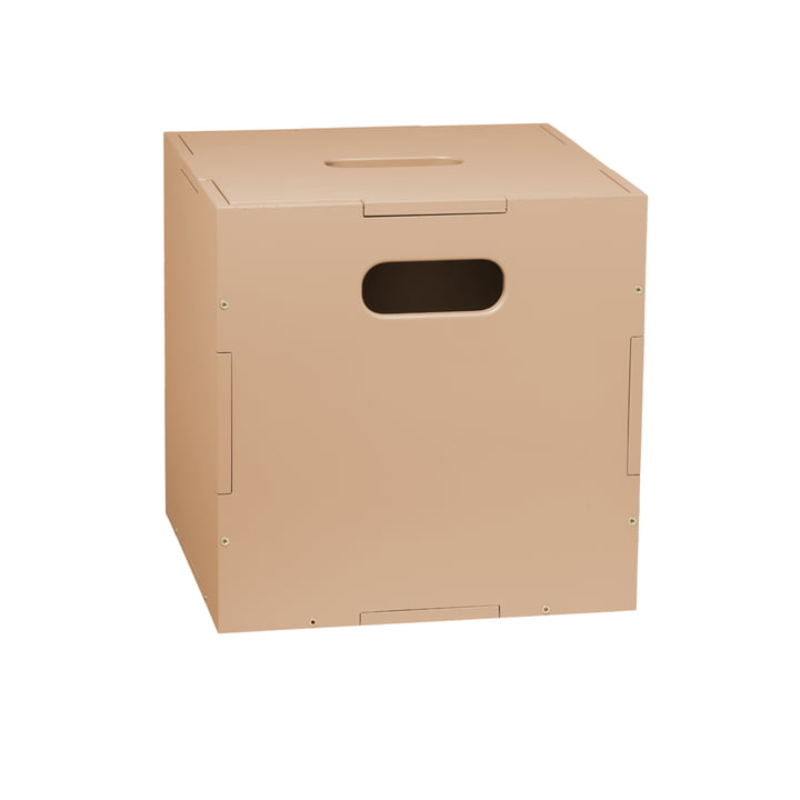 Die Cube Aufbewahrungsbox mit Rollen von Nofred, sand