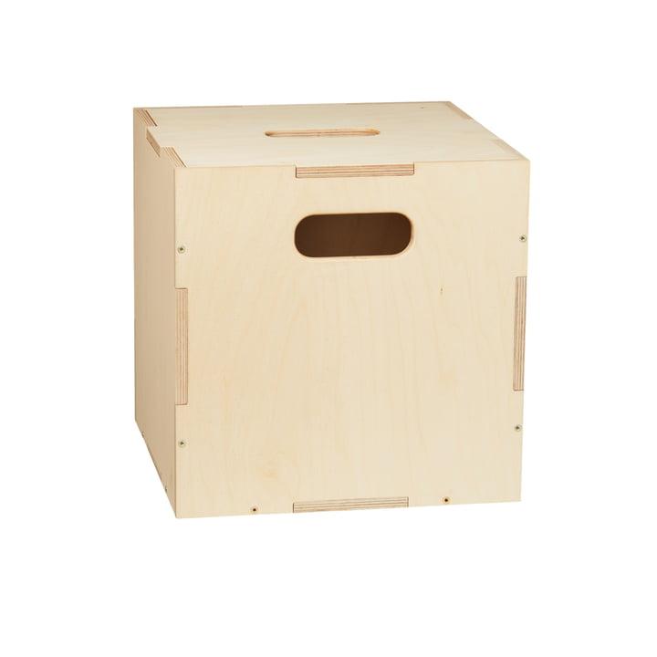 Die Cube Aufbewahrungsbox mit Rollen von Nofred, natur