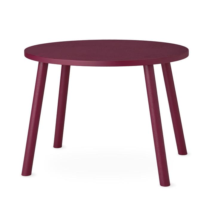 Mouse Kindertisch oval 64 x 46 cm von Nofred in burgundy
