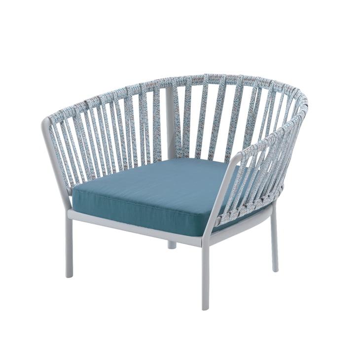 Der Ria Sessel von Fast, grau / bunt / dunkelblau