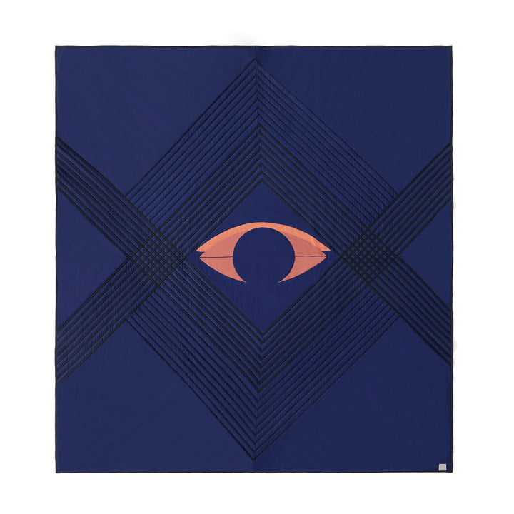 Die The Eye AP9 Tagesdecke von &Tradition, 240 x 260 cm, blue midnight