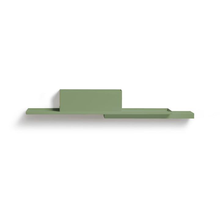 Duplex Wandregal, blassgrün (RAL 6021) von Puik
