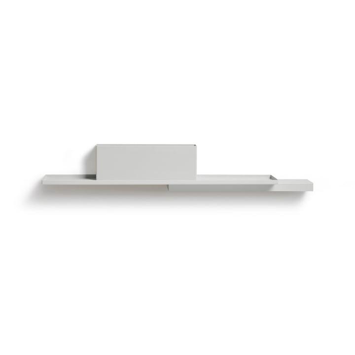Duplex Wandregal, reinweiß (RAL 9010) von Puik