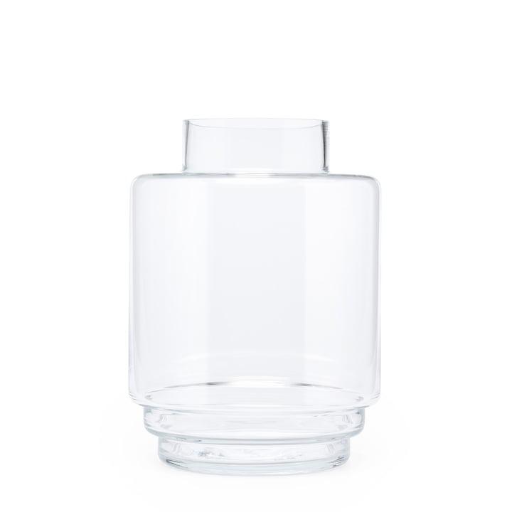 Monday Vase H 23 cm, transparent von Puik