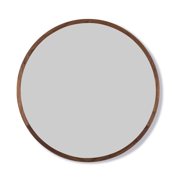 Silhouette Spiegel Ø 100 cm von Fredericia in Walnuss geölt