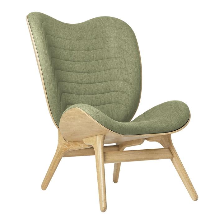 Der A Conversation Piece Tall Sessel von Umage, Eiche / spring green (kingston)