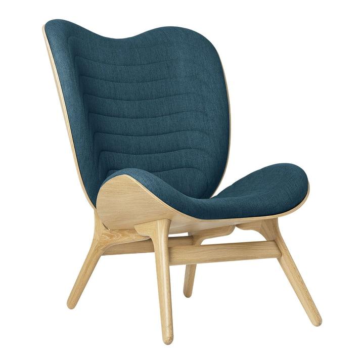 Der A Conversation Piece Tall Sessel von Umage, Eiche / petrol blue (kingston)
