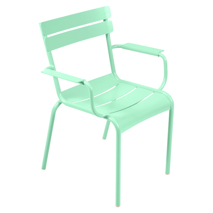 Der Luxembourg Sessel von Fermob, Stahl opalgrün