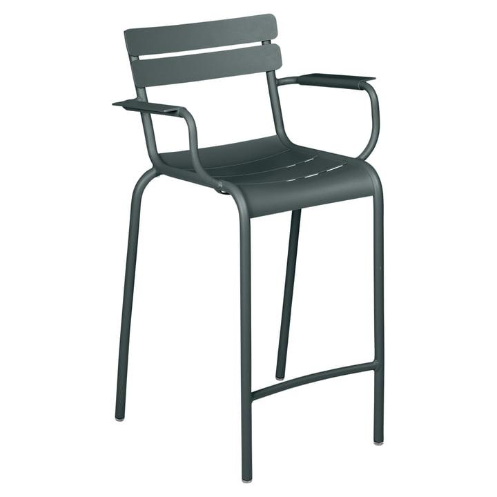 Der Luxembourg Sessel hoch von Fermob, gewittergrau