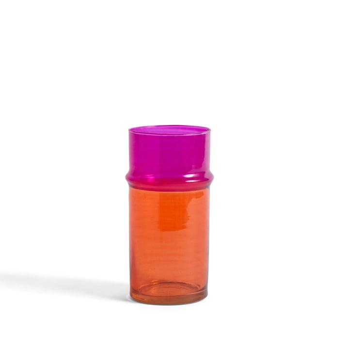 Die Marokkanische Vase S von Hay, orange / pink
