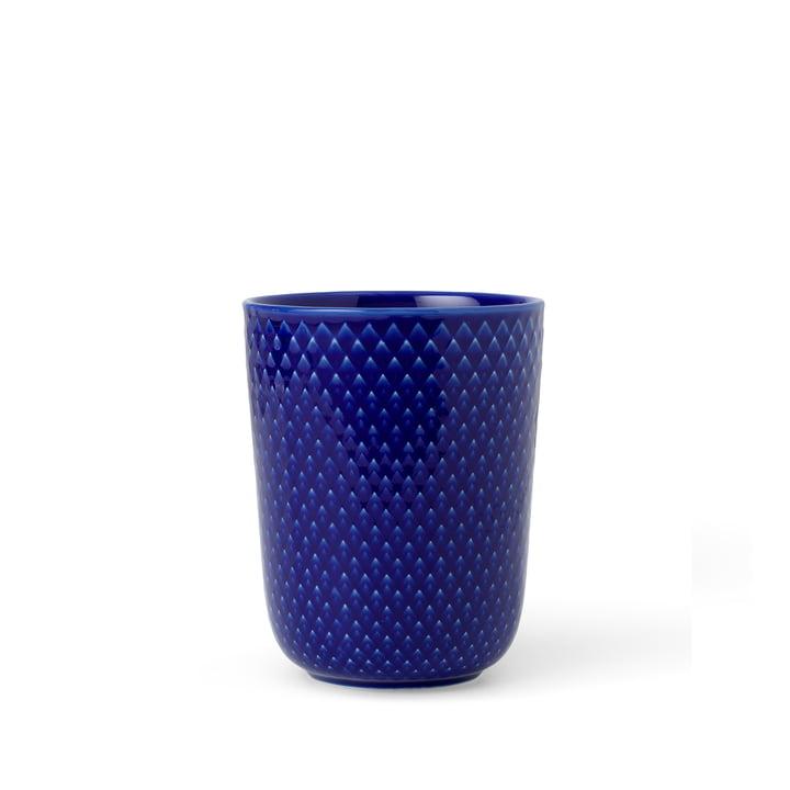 Der Rhombe Becher von Lyngby Porcelæn, 33 cl, dunkelblau