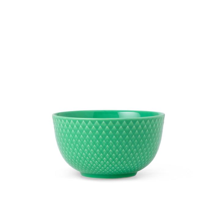 Die Rhombe Schale von Lyngby Porcelæn, Ø 11 cm, grün