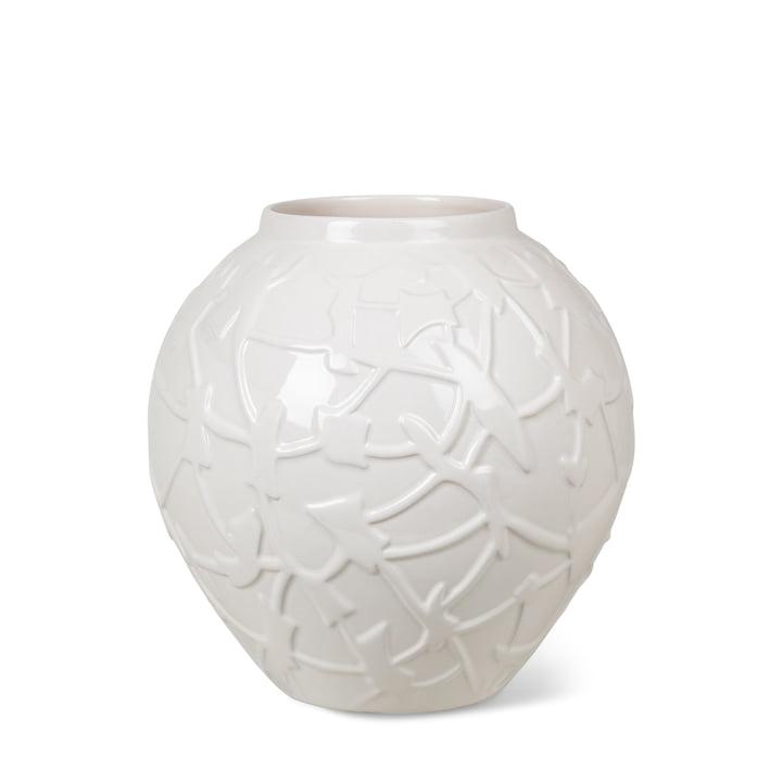Die Relief Vase von Kähler Design, H 20 cm, weiß