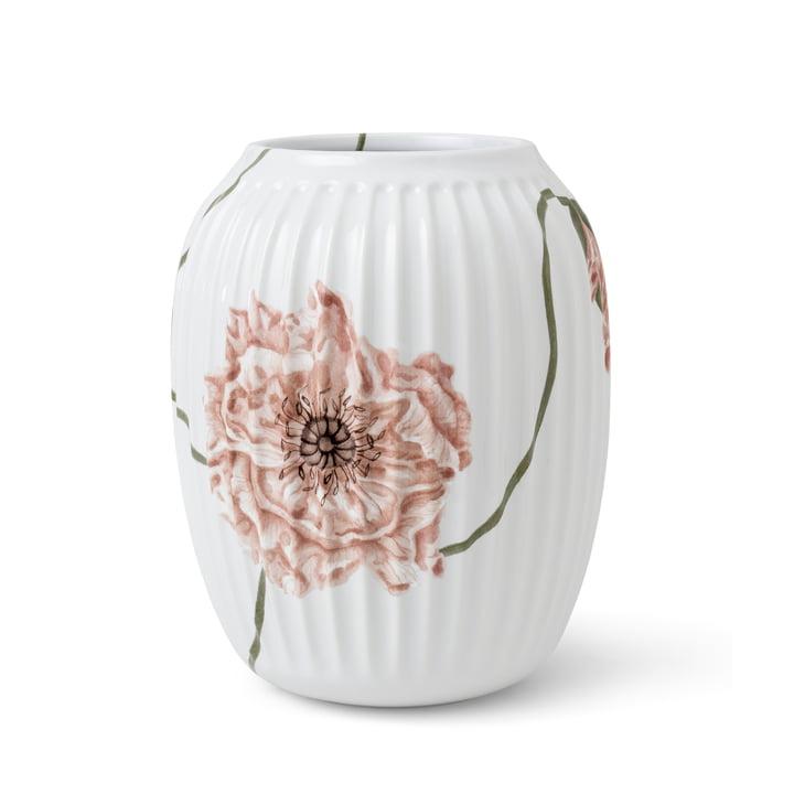 Die Hammershøi PoppyVase von Kähler Design, H 21 cm, weiß