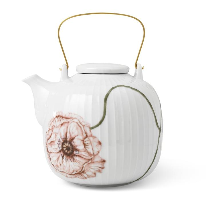 Die Hammershøi Poppy Teekanne von Kähler Design, 1,2 l, weiß