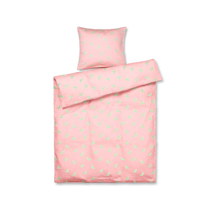 Die Singvogel Baby-Bettwäsche von Kay Bojesen, 70 x 100 cm, rosa
