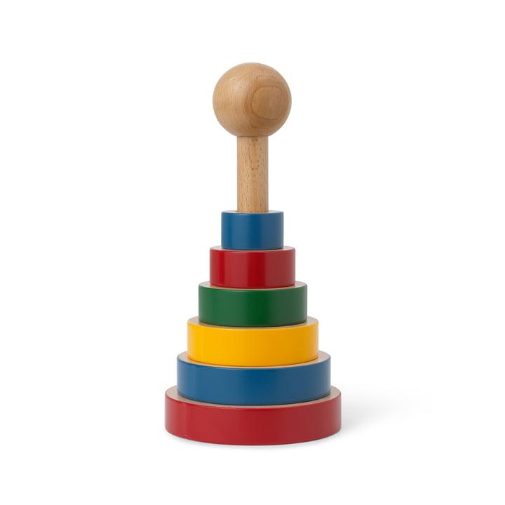 Das Pyramiden-Turm Holzspielzeug von Kay Bojesen, H 22,5 cm, bunt