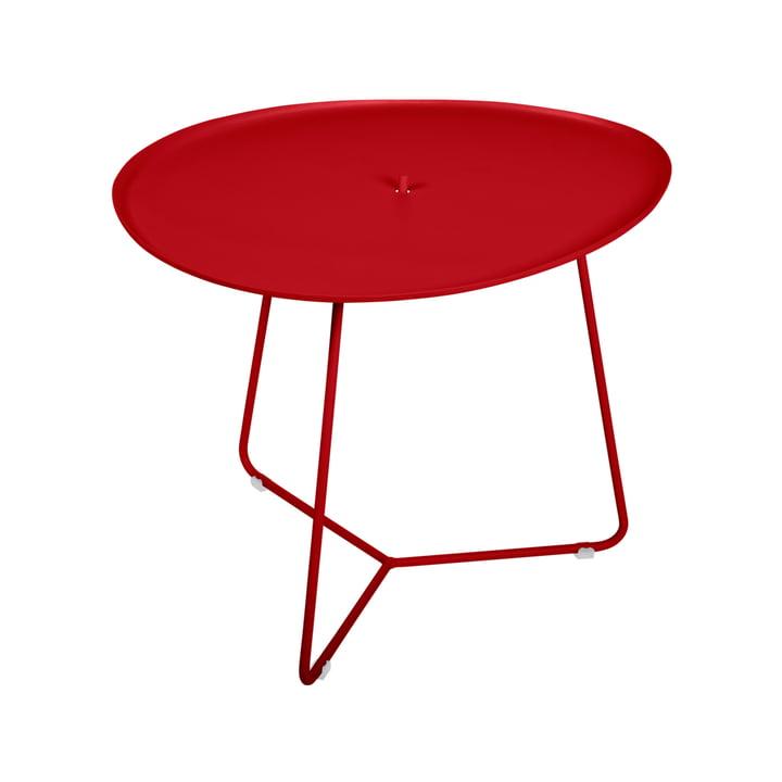 Der Cocotte niedriger Tisch von Fermob, H 43,5 cm, mohnrot