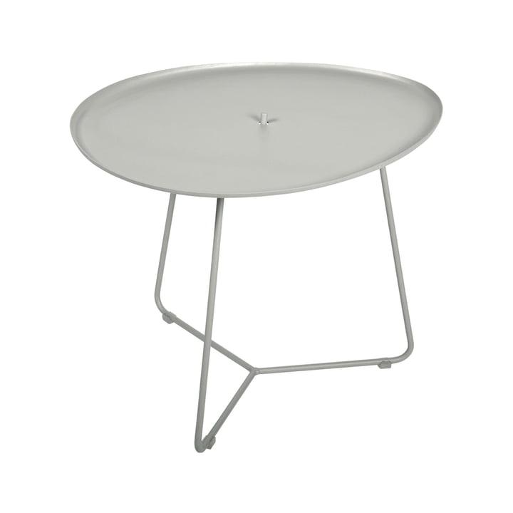 Der Cocotte niedriger Tisch von Fermob, H 43,5 cm, lehmgrau
