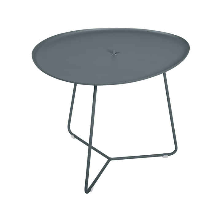 Der Cocotte niedriger Tisch von Fermob , H 43,5 cm, gewittergrau