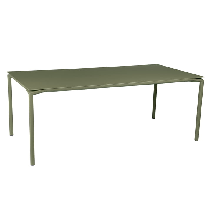Der Calvi Tisch von Fermob, 195 x 95 cm, kaktus