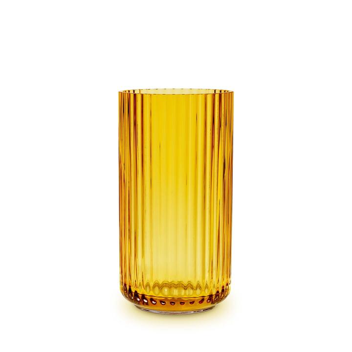 Die Glasvase von Lyngby Porcelæn, H 15,5 cm, amber