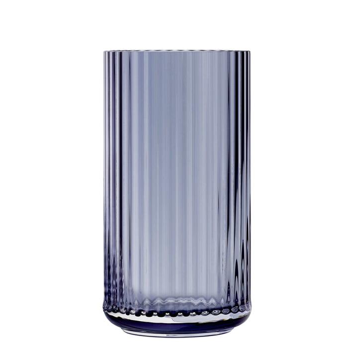 Die Glasvase von Lyngby Porcelæn, H 31 cm, midnight blue