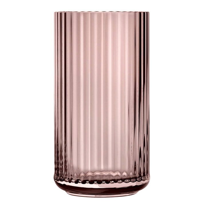Die Glasvase von Lyngby Porcelæn, H 38 cm, burgundy