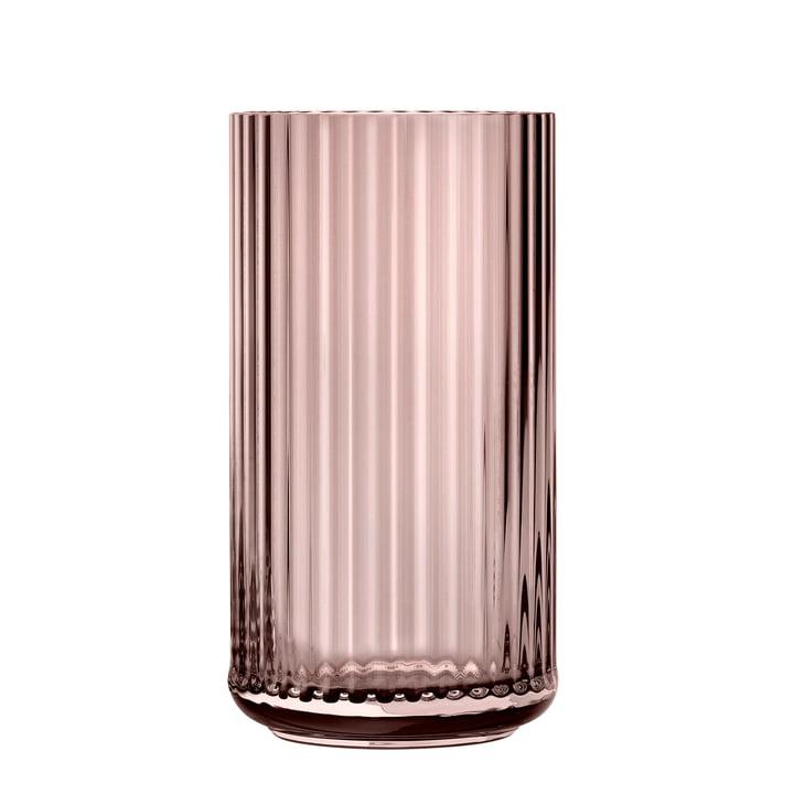 Die Glasvase von Lyngby Porcelæn, H 31 cm, burgundy