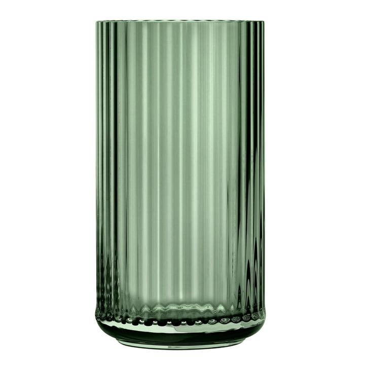 Die Glasvase von Lyngby Porcelæn, H 38 cm, grün