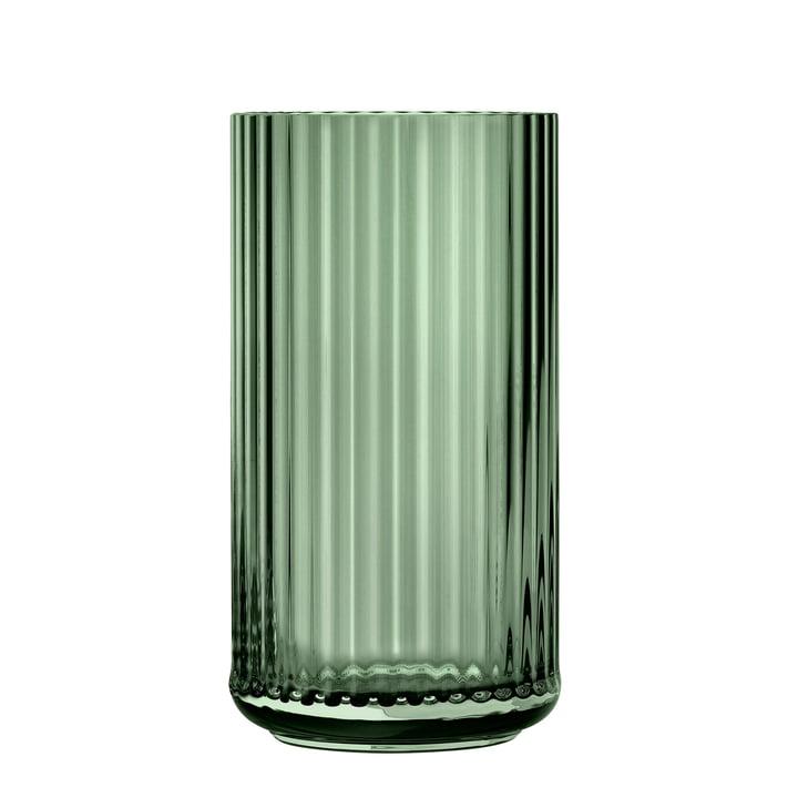 Die Glasvase von Lyngby Porcelæn, H 31 cm, grün