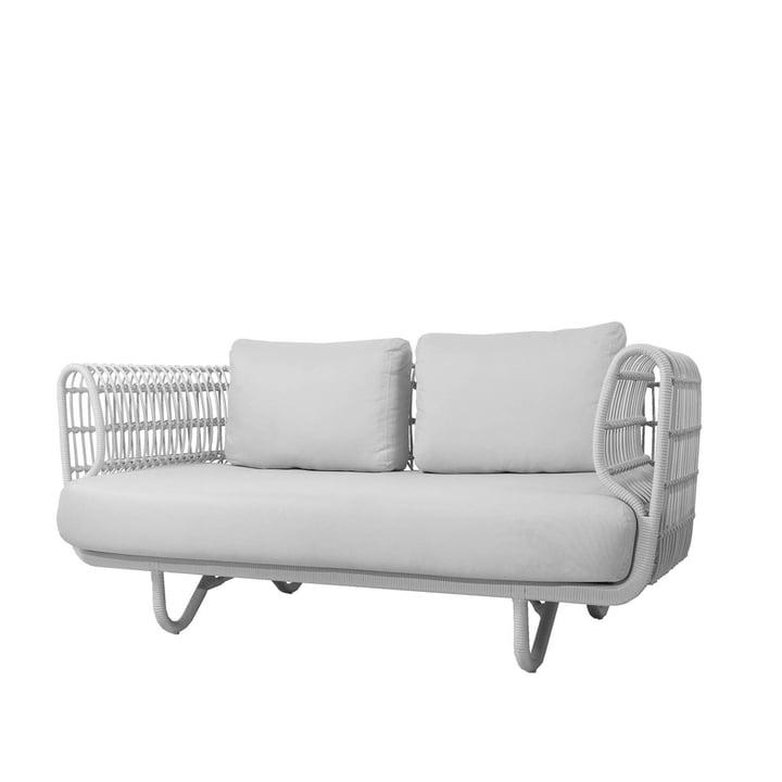 Der Nest 2-Sitzer Sofa Outdoor von Cane-line, weiß / weiß