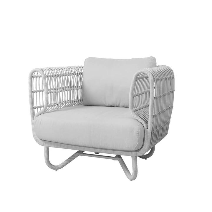 Der Nest Loungesessel Outdoor von Cane-line, weiß / weiß