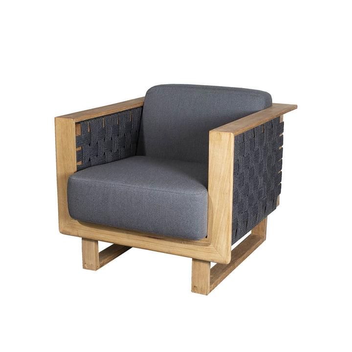 Der Angle Lounge Sessel Outdoor von Cane-line, dunkelgrau