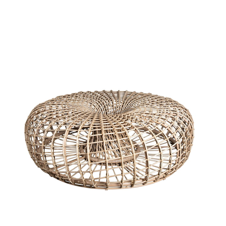 Der Nest Hocker / Beistelltisch Outdoor von Cane-line , Ø 130 cm, natural