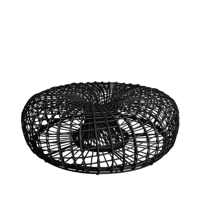 Der Nest Hocker / Beistelltisch Outdoor von Cane-line, Ø 130 cm, lava grey