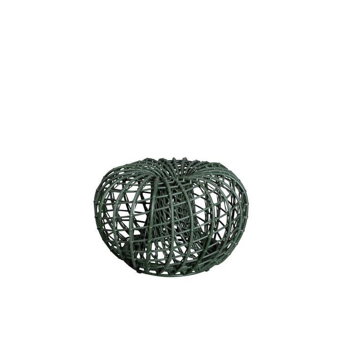 Der Nest Hocker / Beistelltisch Outdoor von Cane-line, Ø 67 cm, dunkelgrün