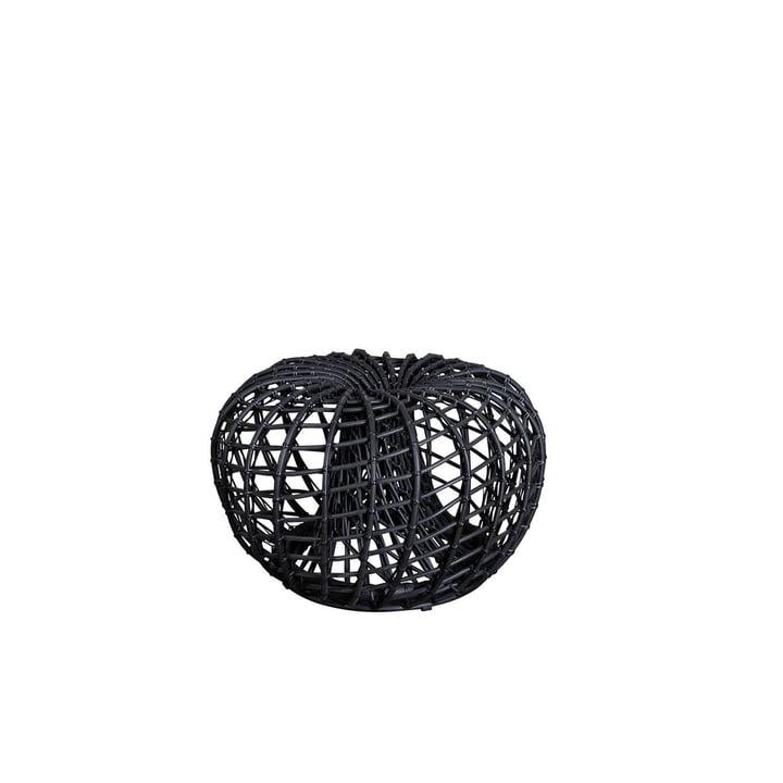 Der Nest Hocker / Beistelltisch Outdoor von Cane-line, Ø 67 cm, lava grey