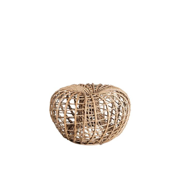 Der Nest Hocker / Beistelltisch Outdoor von Cane-line, Ø 67 cm, natural