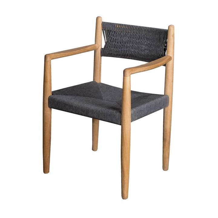 Der Royal Armlehnstuhl Outdoor von Cane-line, dunkelgrau